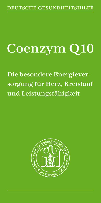 Coenzym Q10 - Broschüre Deutsche Gesundheitshilfe