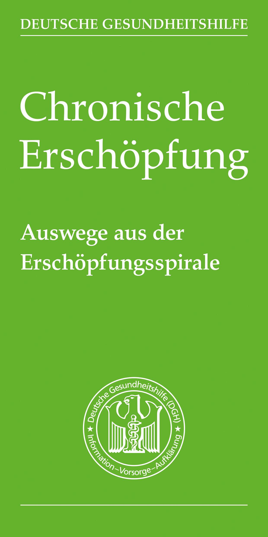 Chronische Erschöpfung – Broschüre Deutsche Gesundheitshilfe