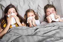 schwere beine grippe